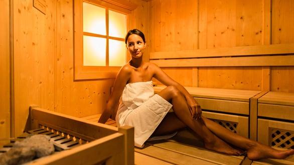 Tyrolean-style Stube sauna