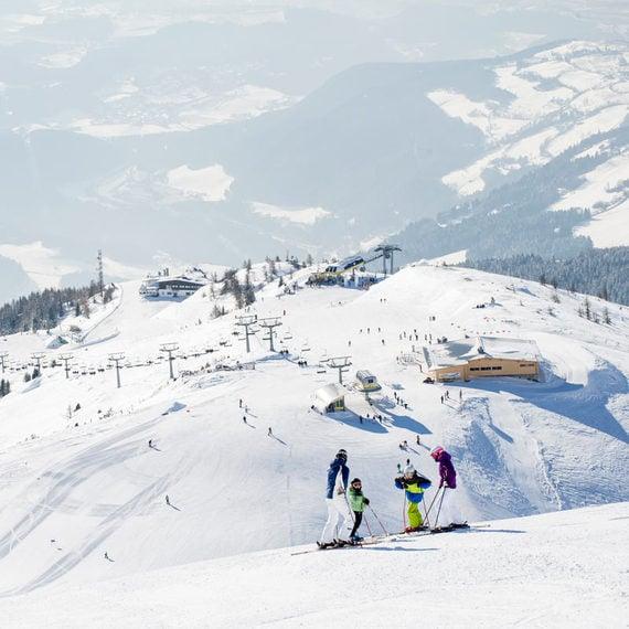 La ski area Gitschberg Jochtal