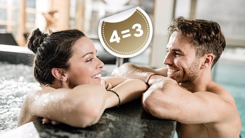 Ski & wellness package 4=3