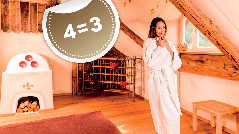 Minivacanza 4=3 con bagno romantico